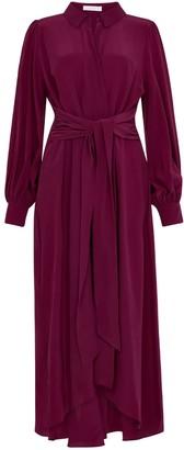 Ethereal London Aria Plain Midi Shirt Dress
