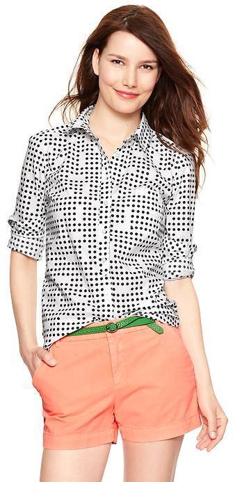 Gap New tailored print shirt
