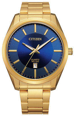 Citizen Quartz Mens Gold Tone Stainless Steel Bracelet Watch-Bi1032-58l Family
