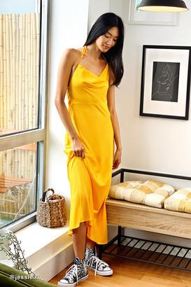 Urban Outfitters High Maintenance Halter Maxi Slip Dress