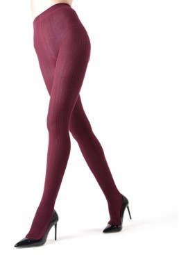 Me Moi Textured Cable Sweater Women's Tights