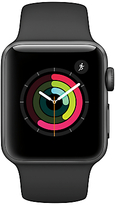 Apple Watch Series 2, 38mm Space Grey Aluminium Case with Sport Band, Black