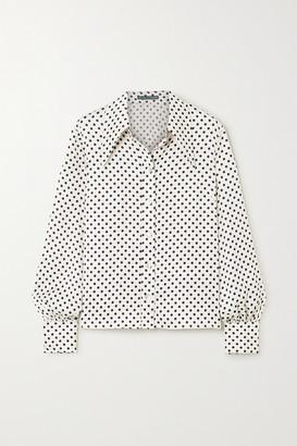 ALEXACHUNG Polka-dot Satin Shirt - Ivory