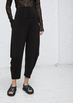 Issey Miyake black drape jersey pant