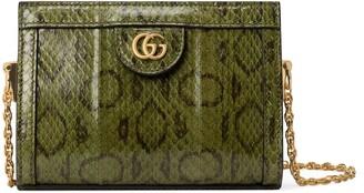 Gucci Ophidia snakeskin mini shoulder bag