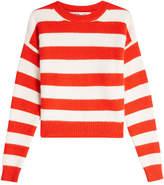 Diane von Furstenberg Printed Pullover with Angora and Wool