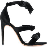 Alexandre Birman strap knot detail sandals - women - Leather/Velvet - 36