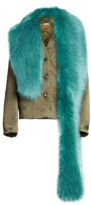 Dries Van Noten Faux Fur-Collar Jacket