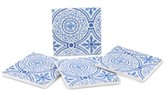 Thirstystone Blue Gilded Opulence 4-Pc. Coaster Set