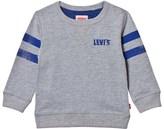 Levi's Grey Logo Front and Back Print Sweatshirt