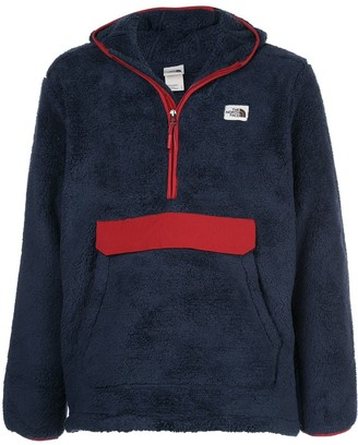 The North Face Red Trim Hooded Fleece