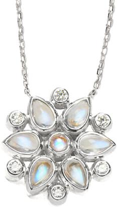 Anzie Fleur Silver Gemstone Necklace