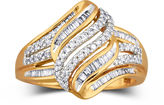 JCPenney FINE JEWELRY Diamond Ring 1/2 CT. T.W. 10K Gold