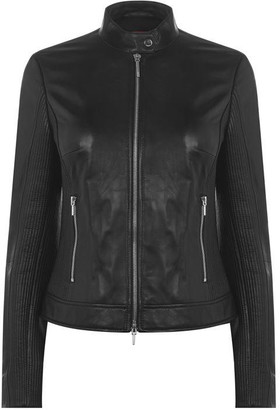 HUGO BOSS Lesia Leather Jacket