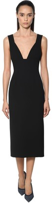 Victoria Beckham Fitted Crepe Dress