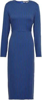 Diane von Furstenberg Striped Stretch-jersey Midi Dress