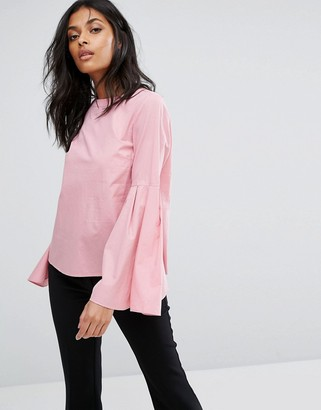 Vero Moda Flared Sleeve Blouse-Pink