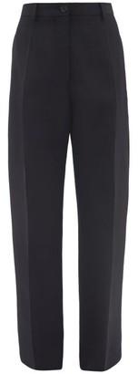 Jil Sander Pleated Wool Trousers - Navy