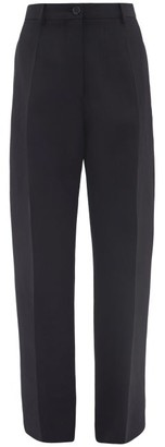 Jil Sander Pleated Wool Trousers - Womens - Navy