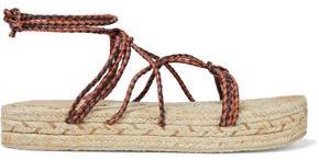 Zimmermann Braided Leather Platform Espadrille Sandals