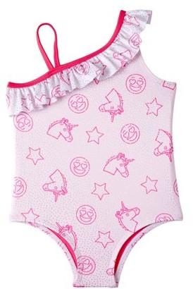 Pink Platinum Baby Toddler Girl Unicorn One-Piece Swimsuit