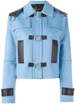 Versace leather trim jacket