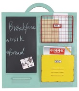 Crystal Art Wood Wall Organizer with Chalkboard - Teal
