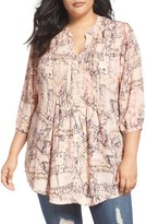 Melissa McCarthy Plus Size Women's Pintuck Blouse