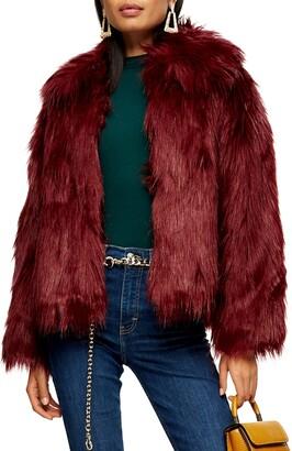 Topshop Murphy Faux Fur Coat