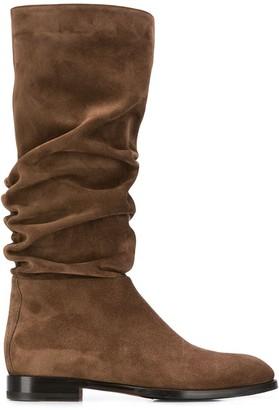 Santoni Crinkled Ankle Boots