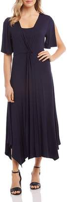 Karen Kane Twist-Front Maxi Dress