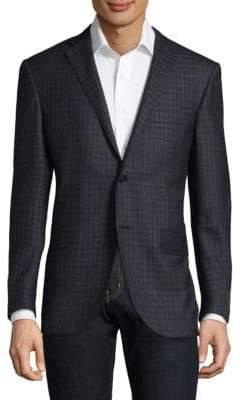 Corneliani Slim Fit Plaid Wool Sportcoat
