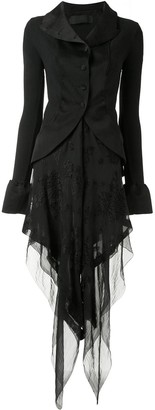 Marc Le Bihan Chiffon-Panelled Dress