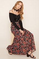 Forever 21 FOREVER 21+ Floral Print Tiered Skirt