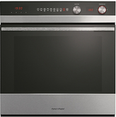 Fisher & Paykel OB60SC9DEX1 Built-In Single Electric Oven, Stainless Steel / Black