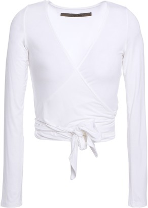Enza Costa Stretch-jersey Wrap Top