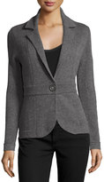 Neiman Marcus Cashmere Blazer Jacket, Gray