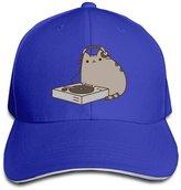 Kitty Dj Pusheen Cat Fitted Sandwish Hats Baseball Cap