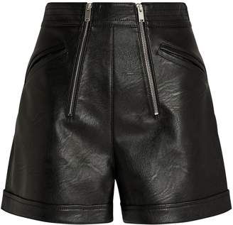 Stella McCartney High-Waist Vegan Leather Shorts