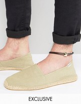 DesignB London DesignB Double Cord Anklet With Gold Detail Exclusive To ASOS