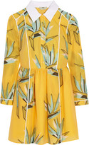 Fendi Cotton-blend jacquard mini dress