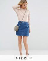 Asos Denim A line Skirt in Mid Wash Blue