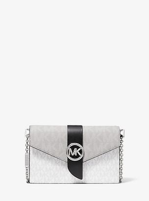 Michael Kors Medium Color-Block Logo Convertible Crossbody Bag