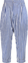 Marni Cropped striped satin wide-leg pants