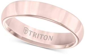 Triton Domed Comfort Fit Band in Rose Tungsten Carbide