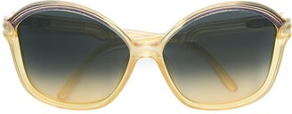Christian Dior Pre-Owned Oversized Round Tinted Sunglasses