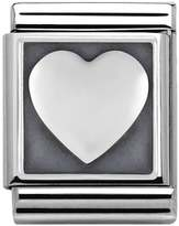 Nomination Big Stainless Steel Oxidised Heart Charm