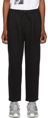 Juun.J Black Cotton and Wool Lounge Pants