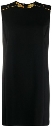 Versace button detail shift dress