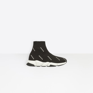 Balenciaga Trainers with two-tone sole and all-over logo